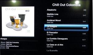 Ejemplo de reproducción de Música de iTunes en Apple TV (Foto: René Di Marco)