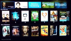 La selección de películas de la tienda americana de iTunes en Apple TV